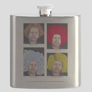 Margaret Thatcher In Wigs Flask