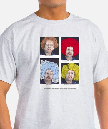 Margaret Thatcher In Wigs T-Shirt