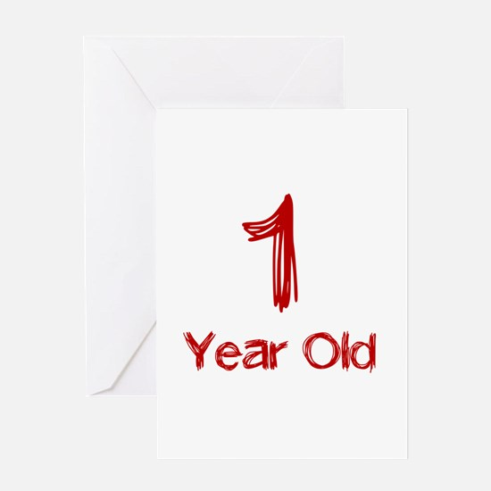 1 Year Old Greeting Card