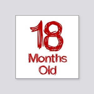 18 Months Old Baby Milestones Sticker