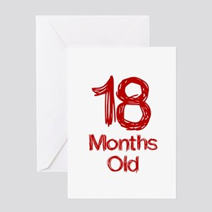 18 Months Old Baby Milestones Greeting Card