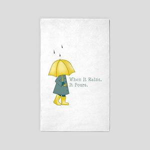 When It Rains It Pours 3'x5' Area Rug