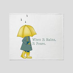 When It Rains It Pours Throw Blanket