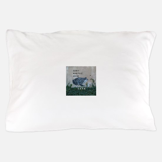 Matsuo bashos frog haiku Pillow Case