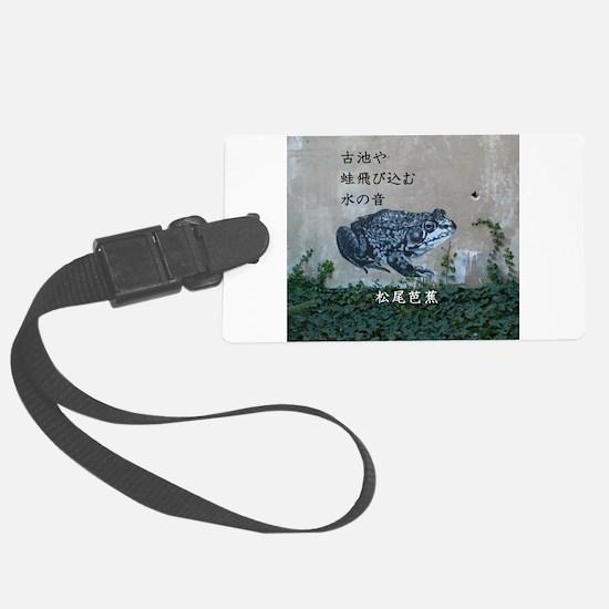 Matsuo bashos frog haiku Luggage Tag