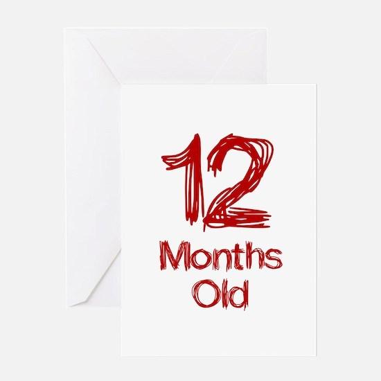 12 Months Old Baby Milestones Greeting Card