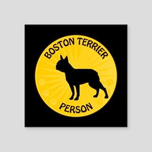 """Boston Person Square Sticker 3"""" x 3"""""""