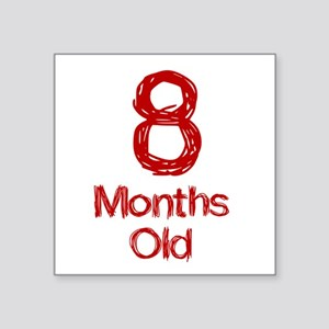 8 Months Old Baby Milestones Sticker