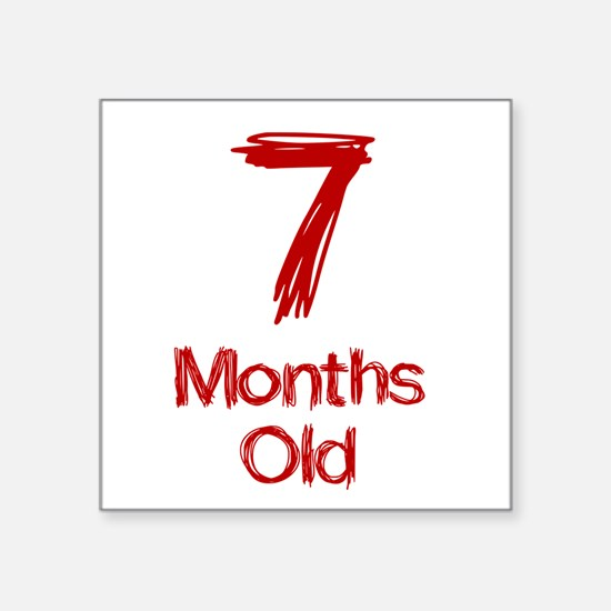 7 Months Old Baby Milestones Sticker