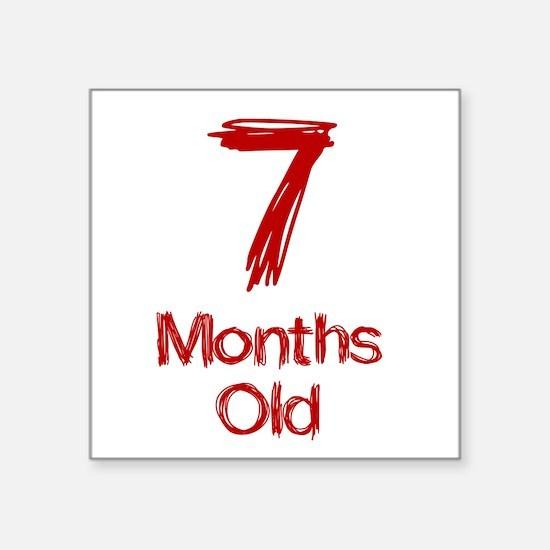 7 Months Old Baby Milestones Sticker