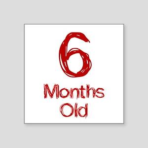 6 Months Old Baby Milestones Sticker