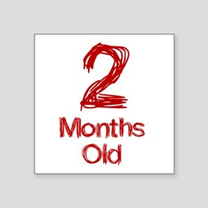 2 Months Old Baby Milestones Sticker