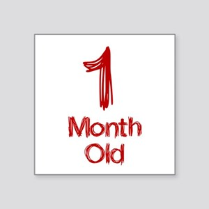 1 Month Old Baby Milestones Sticker
