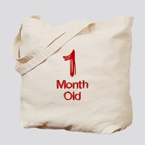 1 Month Old Baby Milestones Tote Bag