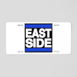 east side blue Aluminum License Plate