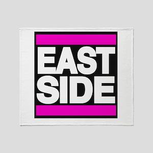 east side pink Throw Blanket