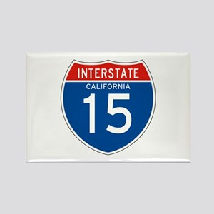 Interstate 15 - CA Rectangle Magnet