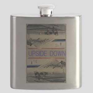 Hiroshige Mt. Fuji upside down Flask