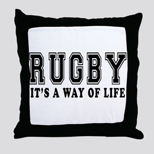 Rugby It's A Way Of Life Throw Pillow