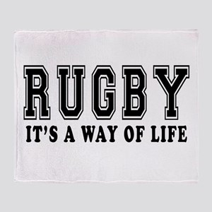 Rugby It's A Way Of Life Throw Blanket