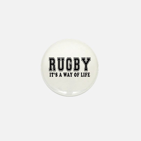 Rugby It's A Way Of Life Mini Button