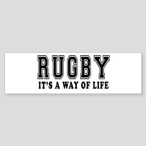 Rugby It's A Way Of Life Sticker (Bumper)