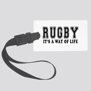 Rugby It's A Way Of Life Large Luggage Tag