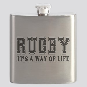 Rugby It's A Way Of Life Flask