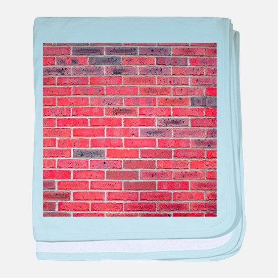 Just a wall of bricks, what can I say baby blanket