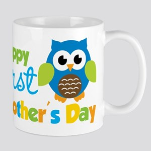Owl Boy 1st Mothers Day Mug