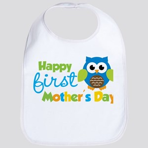 Owl Boy 1st Mothers Day Bib