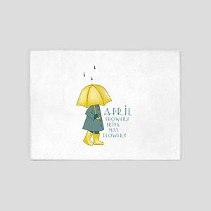 April Showers 5'x7'Area Rug
