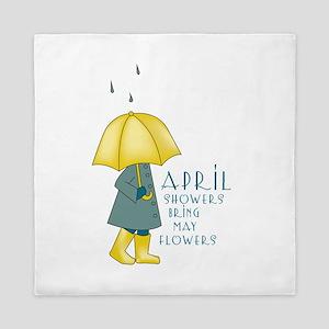 April Showers Queen Duvet