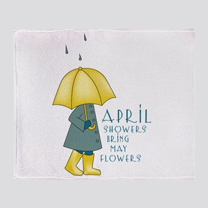 April Showers Throw Blanket