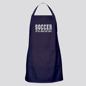 Soccer It's A Way Of Life Apron (dark)