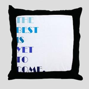 The Best (blue) Throw Pillow