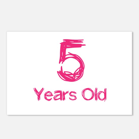 5 Years Old Postcards (Package of 8)