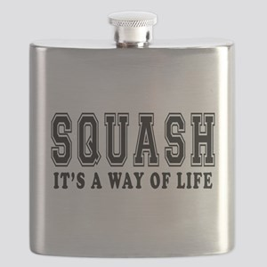 Squash It's A Way Of Life Flask