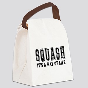 Squash It's A Way Of Life Canvas Lunch Bag