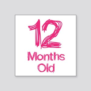 12 Month Old Baby Milestones Sticker