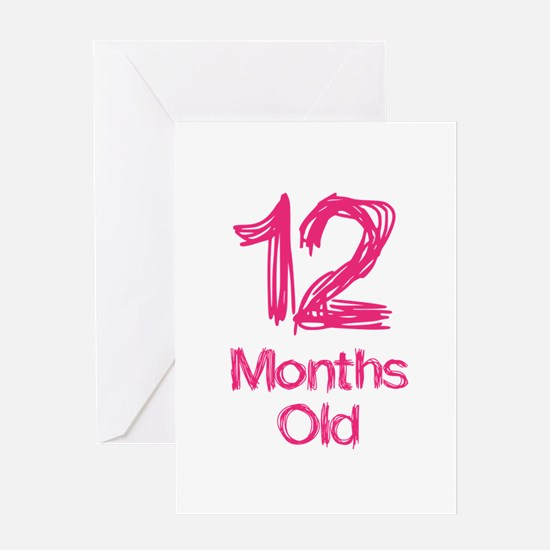 12 Month Old Baby Milestones Greeting Card