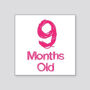 9 Months Old Baby Milestones Sticker