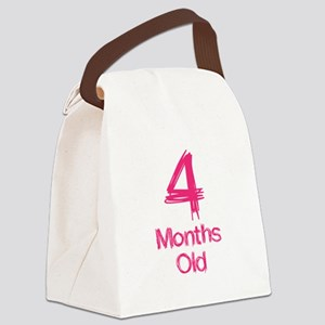 4 Months Old Baby Milestones Canvas Lunch Bag