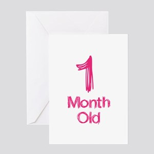 1 Months Old Baby Milestones Greeting Card