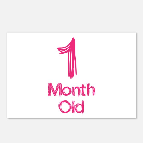 1 Months Old Baby Milestones Postcards Package Of