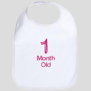 1 Months Old Baby Milestones Bib
