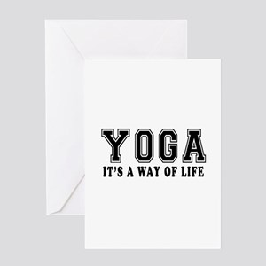 Yoga It's A Way Of Life Greeting Card