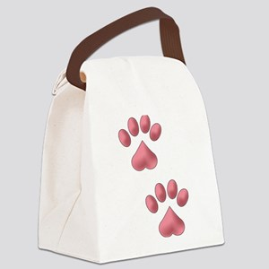 Two Paws Canvas Lunch Bag