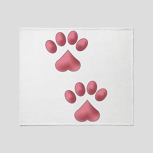 Two Paws Throw Blanket