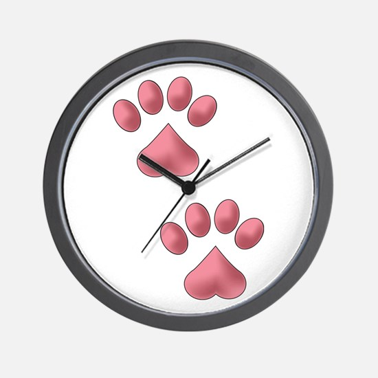 Two Paws Wall Clock